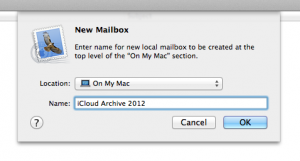 Create a folder to archive iCloud email